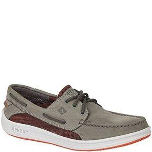 Sperry Gamefish 3-Eye Knit Boat Shoe Mens Grey